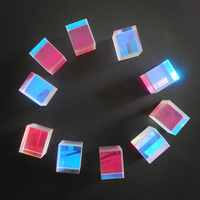 2.2x2.2x2.2cm Defective Cross Dichroic X-Cube Prism RGB Combiner or Splitter for Student education early learning