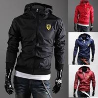 2014 fashion new men leisure hooded jacket / The fall male cardigan zipper jacket / Men's casual coat