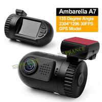 100% Original Mini 0803 Car Camera Ambarella A7 Video Recorder 1296P Full HD DVR+H.264+WDR+AR0330+GPS Logger+Internal 8GB DVRs