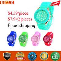 Geneva watches Hot Sale women geneva watch colorful quartz wristwatch -free shipping