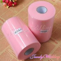"Free Shipping 2/ pcs Pink Matt TULLE Roll Spool 6""x100yd Tutu Wedding Gift Party Bow gift ribbon bow"