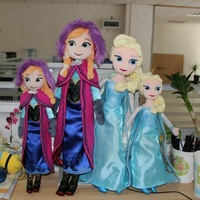40/50CM,20PCS/LOT,Frozen Plush Toys Anna & Elsa Princess For Girl's Gifts,Drop Free Shipping