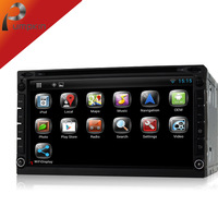 "2014 New 7"" Touch Screen 2 Din Universal Car DVD Player w/ AV IN GPS Bluetooth Radio AM/ FM Stereo Steering Wheel + Free Map"