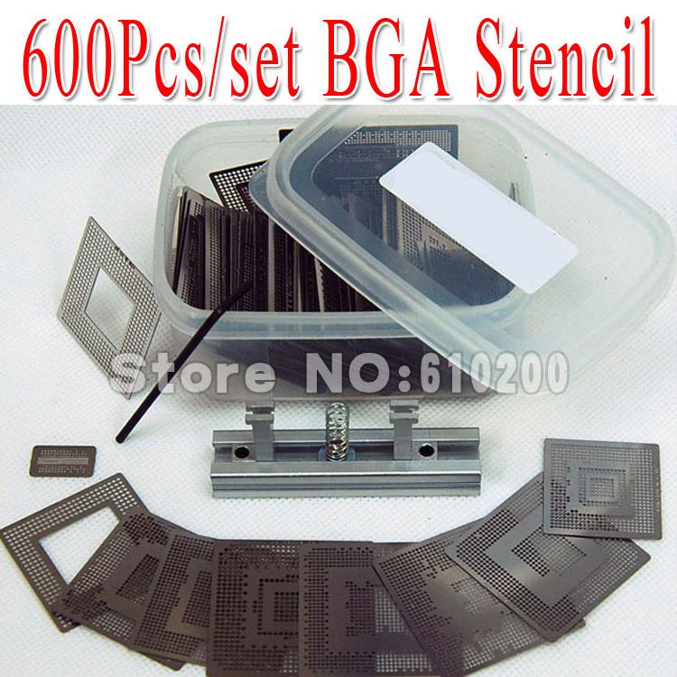 Free shipping 2014 NEW 600pcs/set Bga Stencil +BGA jig direct heating +Box for Bga Reballing Stencil Kit BGA reballing kit(China (Mainland))