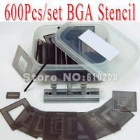 Free shipping 2014 NEW 600pcs/set Bga Stencil +BGA jig direct heating +Box for Bga Reballing Stencil Kit BGA reballing kit