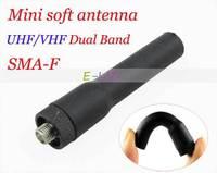 Mini SMA-F Female Dual Band Soft Antenna SF20 for BAOFENG UV-5R Plus UV-5RA/B/E Plus 888s H777 Kenwood Two Way Radio