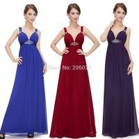 HE08083KQ  Free Shipping   Khaki Deep V-neck Shoulders Long Evening Dress   2014