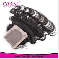 Silk Base Closure Brazilian Hair Body Wave,100% Remy Human Hair Top Closure 4x4,10-20 Inches Aliexpress Yvonne Hair Products