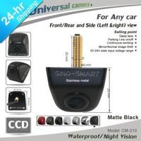 HD CCD universal wireless car parking camera long time working camera matte black camera stainless metal night vision waterproof
