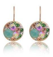 Colorful Italina Regent full rhinestone crystal  jewelry wholesale ear hook earhook  E081B19