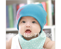 fashion new star baby cotton beanie hat boys and girls skullies cap for kids children accessories Free Shipping