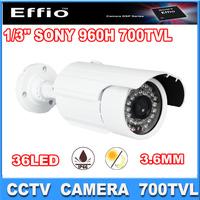 """1/3"""" Sony Effio-e CCD 700TVL camera 36pcs IR leds Day/night  waterproof  960H cctv Camera security  camera"""