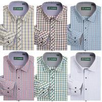 2014 New Arrive men's Cotton Long-Sleeve Dress Shirts men's fashion plaid Business Casual shirts Size S-5XL Free shipping