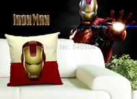 45*45cm Super Heros Cotton Linen Cushion Covers Pillow Cases Ironman/Superman/Batman/Green Lantern/The Flash/Captain America