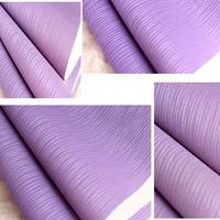 European modern brief wallpaper plain solid color purplish red wall paper