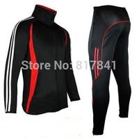 New 2014 autumn winter men clothing football training suit Long sleeve Soccer training jerseys suit fleece pants movement