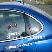 Custom die cut decals for car
