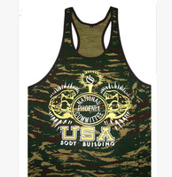 Free shipping! Npc Camouflage bandboxes cotton fitness vest gold elastic hurdler powerhouse sport vest