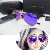 Free Shipping ve 1470A Mirror Sunglasses Men and Women Brand Desiner Silver Frame Purple Mirror  Sun Glasses