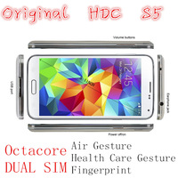 HDC S5 dual Sim 5.1 inch Mtk6592 Octa Core Fingerprint Air Gesture Android 4.4 3G Smartphone  12.1MP Camera  Google Play Store