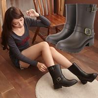 Motorcycle Boots Female Women Rain Boots Rainboots Slip-Resistant Rubber Boots Galocha Shoes Woman