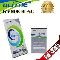 Blithe NOK-BL-5C  Real 1250mAh Battery For Nokia 1100 3100 6600 6230 C2-06 C2-00 X2-01