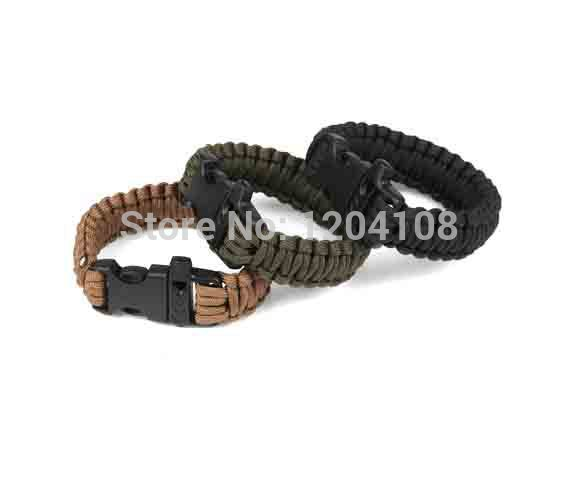 2014 New Arrival Seconds Kill camping At9001 Outdoor Umbrella Rope Bracelet Emergency Survival rope with whistle - Random color(China (Mainland))