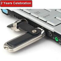 HOT Fashion 64GB Leather USB Flash Drive Pen Drive Pendrive Memory Stick Drives Pendrives MicroData