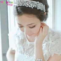 Fashion Elastic Crystal Rhinestone Hairband Headband Headwear Bridal Hair Accessories For Women and Girls Jewelry  Free Shipping