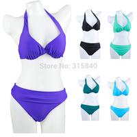 1set New 2014 Triangl Swimwear Bikini Sets Monokini Push up Bikini Bandage Swimsuit Bikinis Beach Bathing Suit  -- WBK24 PA44
