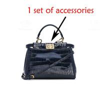 8inch Fend DIY luxury top handle double-clasp metal bar connector gold finish hardware handbag accessories