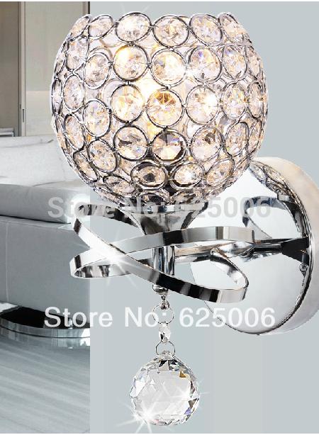 Modern style lampe murale lampe de chevet chambre broadstep lampe, cristal lampe de mur e27 gold silver style unique lumière d'éclairage intérieur