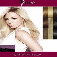 Platinum Blonde Straight Sew in Weft 100% Human Hair Extension Brazilian Virgin Hair 12-26inch 100g/pc