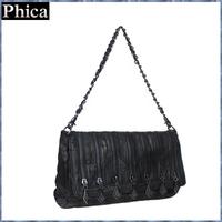 New 2015 Women Handbag Genuine Leather Sheepskin Bag Handmade Patchwork Tote Zip Decoration