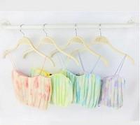 New 2014 Sexy Vintage Neon Rainbow Print bra bustier Crop Top Gradient Camis iceCream fitness Tube Tank Chiffon Tops camisole
