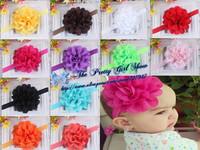 "Fancy 4"" Eyelet Fabric Flower Headbands Infant Baby Headbands Girls Hair Accessories Photography Props 30pcs/lot"