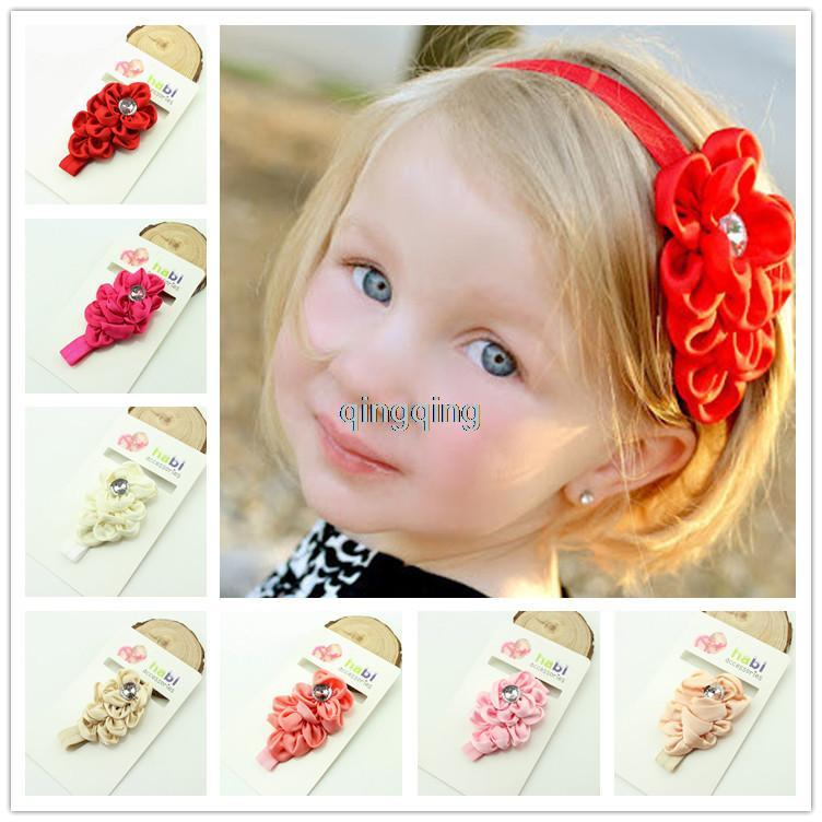 Flower Bow Headband Hair Clothing Accessories Girls Baby Infant Toddler Children 8colors 15pcs/lot(China (Mainland))