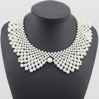 2014 New Fashion Imitation Pearl Choker Necklace Colar Necklace For Women Party Jewelry