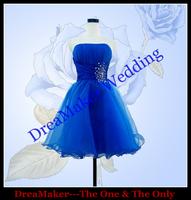 DMC028 100% Exactly The Same Real Sample Waist Beaded Designer Prom Dresses Girls Fashon Short Evening Dress 2014