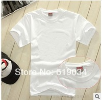 free shipping men's cotton T-shirt  short sleeve shirt  blank t-shirt 100% cotton men white cotton T-shirt 200 gram wholesale