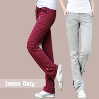 Yoga New 2014 Summer Fashion Sprots Trousers Korean Thin Large yard Leisure Knitting Overall Loose Sweatpants Women Haren pants