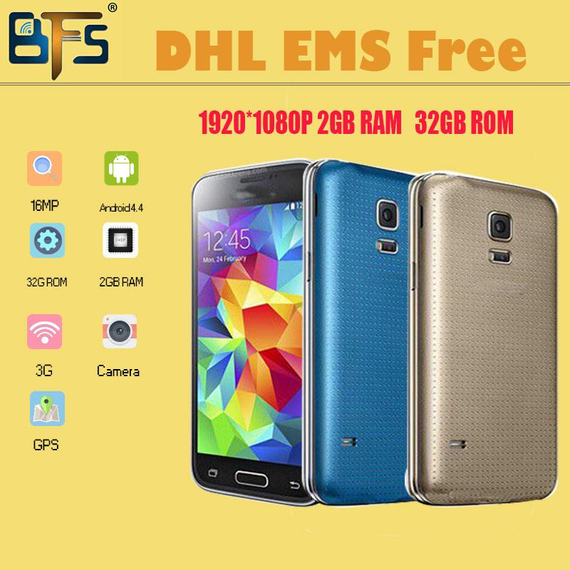 Dhl ems versand 2014 handys 2gb ram rom 32g 1:1 5,1 zoll s5 telefon mtk6592 Quad-Core 1,3 GHz 2gb ram 8mp i9600 telefon
