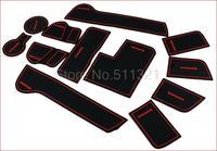 2010-2012 KIA Sportager High quality Silica gel Gate slot pad,Teacup pad,Non-slip pad(12 pcs)