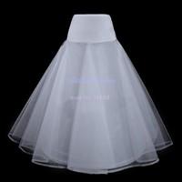 4pcs/lot Elegant Petticoats For Wedding Dress A Line Elastic Waist Hoop Bridal Petticoat Crinoline Underskirt White b10 11906