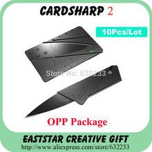 10PCS , Iain Sinclair Cardsharp 2 com OPP Package , Carteira Folding Segurança do Cartão de Crédito Faca Tática Resgate Faca Frete Grátis(China (Mainland))