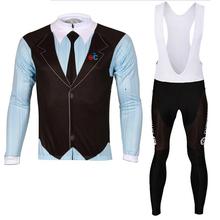 Sportswear 2014 Bicycle Bike Jersey Team Men Full Long sleeve Cycling Jersey Set Shorts (Bibs )Sets Quick Dry Cycling Clothing(China (Mainland))