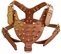 Dog Collar Pet Products Exclusive Large Dog Leather Harness Dog Harness Large Collar Satsuma Traction 28 Spikes Free Shipping