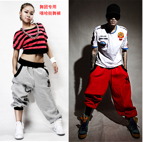 1035 Street dance competition in designated models to foster hipster couples hip-hop pants of hip-hop movement(China (Mainland))