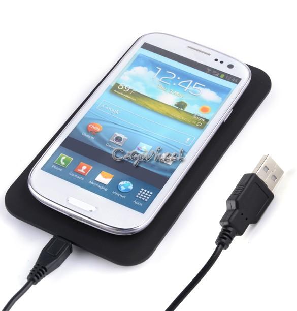 Qi Wireless Charger Transmitter Pad AC charging Mat For Samsung Galaxy S3 S4 Note2 Note3 LG Nexus 4 5 Nexus 7 2G b9 SV001909(China (Mainland))