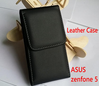 Leather case for ASUS Zenfone 5 case Style Flip Cover Stand Phone Back Cover with back clip balck color + gift